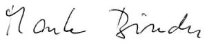 Unterschrift Marta Binder